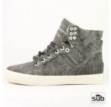 supra skytop black distressed canvas