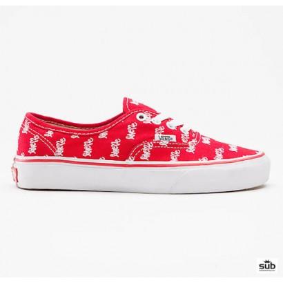 vans authentic love me red