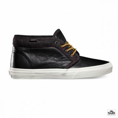 vans chukka boot ca leather and denim black