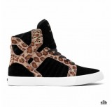 supra skytop black cheetah white