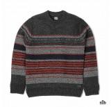 edwin docker sweater stripes gunmetal stripes