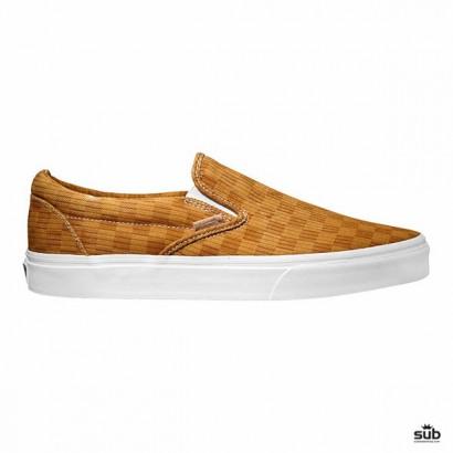 Vans Classic Slip-On CA , washed herringbone inca gold, 7