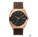 nixon time teller rose gold gunmetal brown