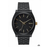 nixon time teller matte black gold