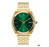 nixon time teller gold green sunray