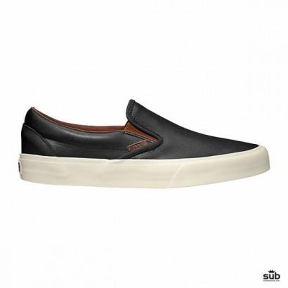 vans classic slip on ca veggie leather black