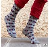 wams mustache knee sock