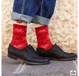 wams red bike sock