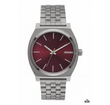nixon time teller gunmetal deep burgundy