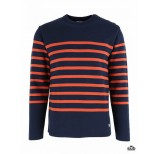 armor lux heritage pullover navy red