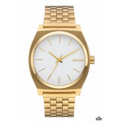 nixon time teller gold white
