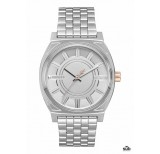 nixon time teller sw 37mm phasma silver
