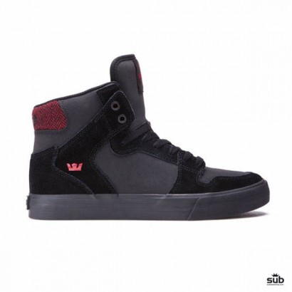 supra vaider black red herringbone