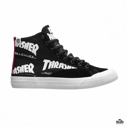 huf x thrasher classic hi black