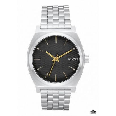 nixon time teller black stamped gold