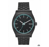 nixon time teller all black blue