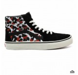 vans sk8hi leopard black true white