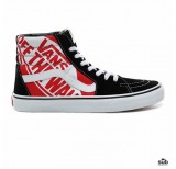 vans sk8hi otw quarter heel scab black true white