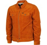rvca easy trucker jacket burnt copper