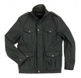 brixton debaser jacket black canvas